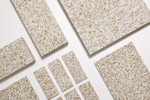 Natural cork, cement, sand